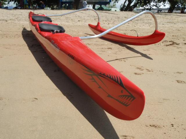 Wahoo OC2 Outrigger Canoe - Ocean Swell Adventure Craft